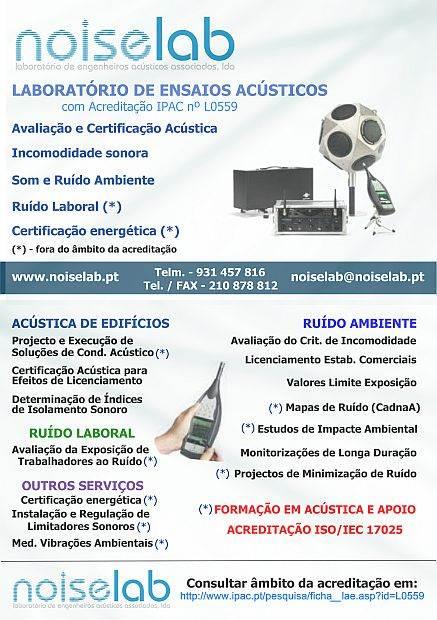 Empresa para ensaios acústicos localizado na  Margem Sul e com delegações comerciais em Lisboa e em Santa Maria da Feira